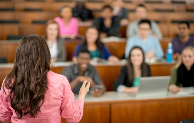 Professor Teaching a College Class