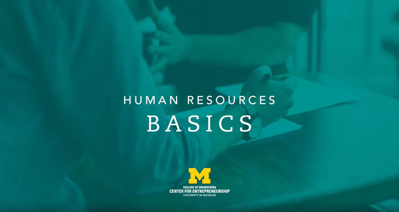 title card for human resources basics