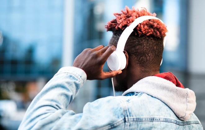 Guy with headphones