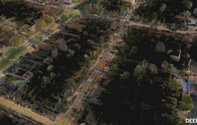 High resolution HD map created by AI