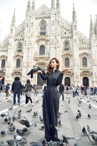 Jane Zhang in Milan for MTV EMAs