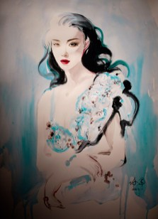 Ni Ni by painter He Ping