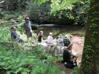 Lunch beside Eastatoe Creek