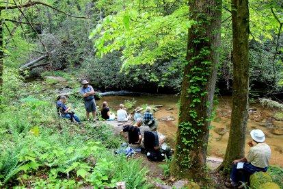 Lunch by Eastatoe Creek