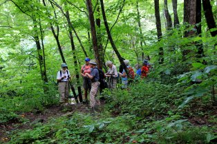 Pow-wow on the Big East Fork trail