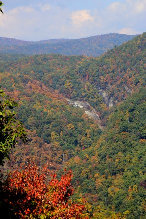 Distant View of Whitewater Falls