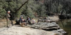 Lunch on the Chattooga River
