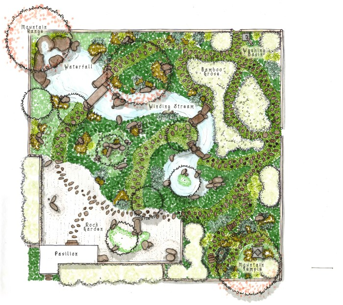 japanese garden designs and layouts Japanese Garden and Planting Plan – C.F. Johnson Design