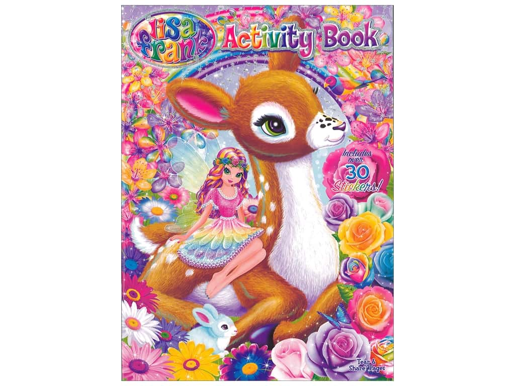Activity Book With Stickers Lisa Frank Createforless