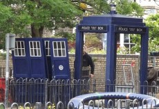 Of course, this isn't the real TARDIS it is the stand in used for background shots when The Doctor and the real TARDIS are busy.