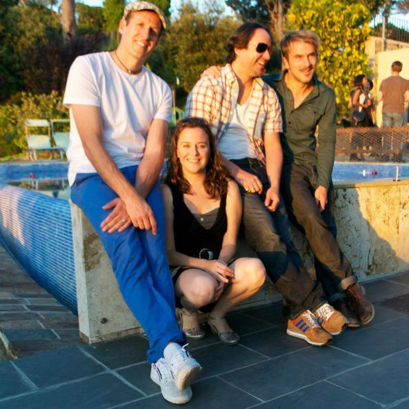 radiosepia band members left to right may or may not be: Adam Rugnetta, Marta Torres,Manu López. Matt Monaghan