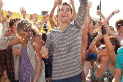 """(Left to right.) Sarah Wright and Skylar Astin star in Relativity Media's """"21 & Over"""". © 2011 Twenty One and Over Productions, Inc. Photo Credit: John Johnson"""