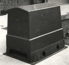 Fiberglass Enclosure protects outdoor equipment. on Outdoor Water Softener Enclosure  id=93609
