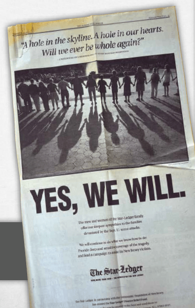 The Star-Ledger advertised in its own paper for contributions to The Star-Ledger Disaster Relief Fund.