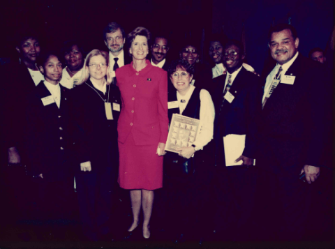 Governor Christine Todd Whitman with members of the 1997 NLI Class.