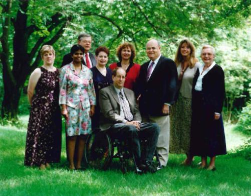 Members of the Community Foundation staff (left to right): Faith Krueger, Roja Singh, Terry Corbin, Phyllis Tavollacci, Ira Resnick, Susan Soldivieri, Jim Kellogg, Carolyn Angeleri, and Margaret P. Shantz.