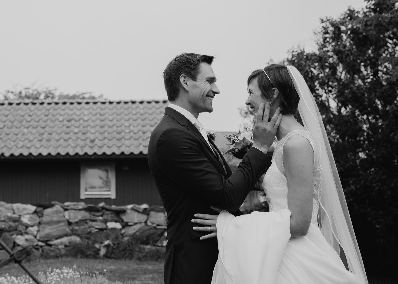 Bröllopsfotograf Käringön CFoto first look Maria och Petter