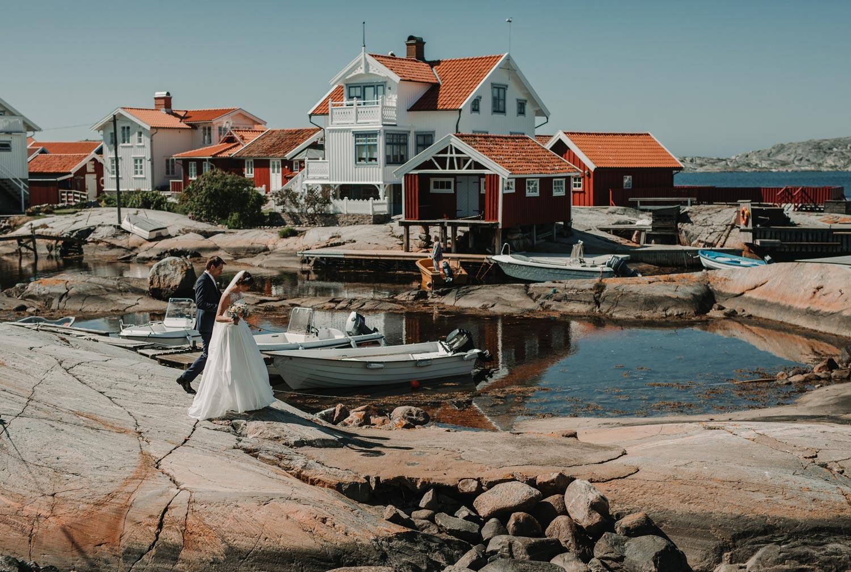 Bröllopsfotograf Käringön CFoto Maria och Petter bröllopsporträtt