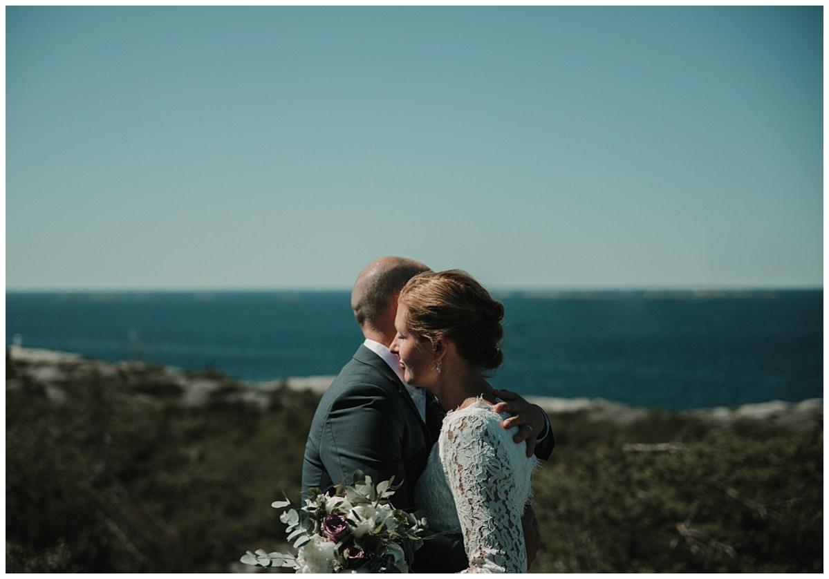 Bröllopsfotograf Marstrand porträtt vid havet wedding photographer portraits by the sea