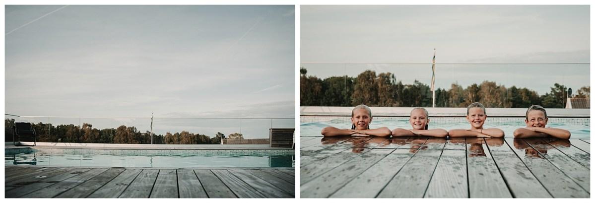 porträttfotograf Kungsbacka Göteborg kul i poolen portrait photographer