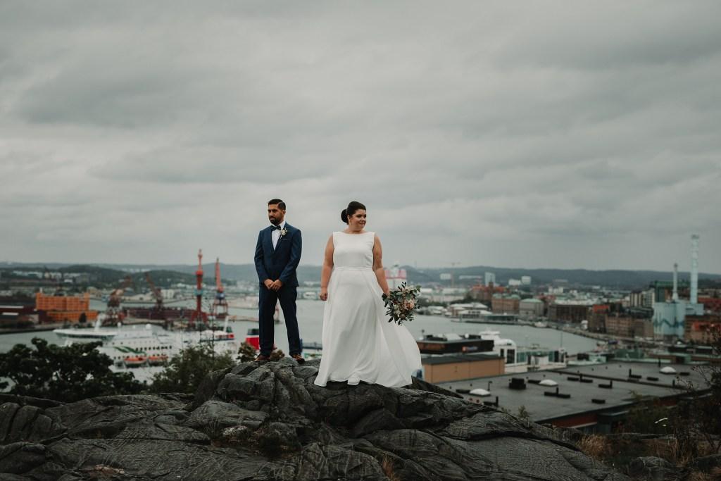 Bröllopsfotograf Göteborg masthuggskyrkan wedding photographer Sweden