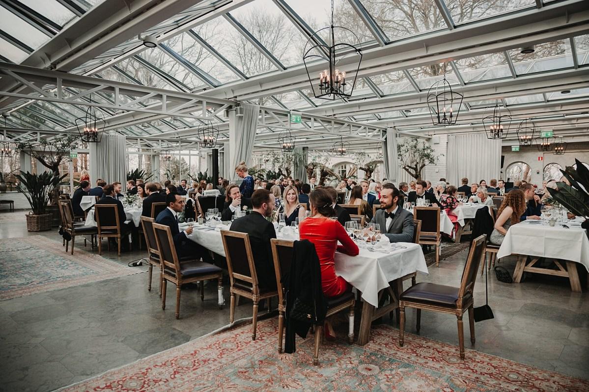 Bröllopsmiddag Norrvikens trädgårdar bröllopsfotograf Skåne