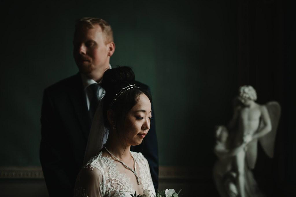 Bröllopsfotograf Göteborg Gunnebo slott bröllopsporträtt