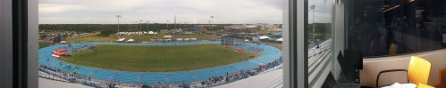 Here's a panoramic view of UNF's Hodges Stadium from inside the press box. Enjoy!