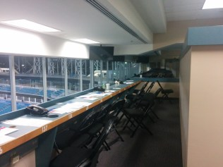 Good night. Sleep tight. Don't let the bedbugs bite. After it's all over, the EverBank Field press box looks like this.