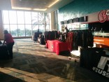 Team gear is out in abundance in the lobby of the East Club at EverBank Field for High School Media Day.
