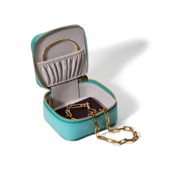 Monica Vinader Turquoise Trinket Box with Accessories