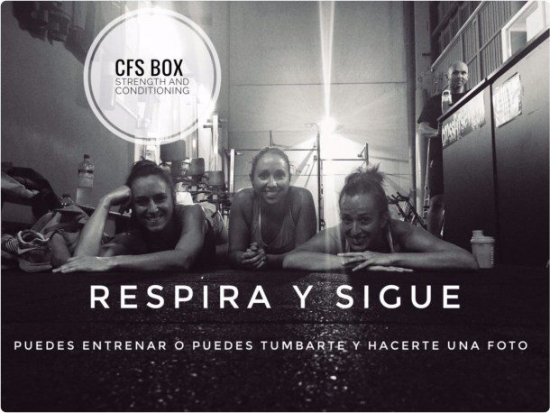 Wod CFS Box CrossFit Sevilla training Halterofilia enfoca respira sigue