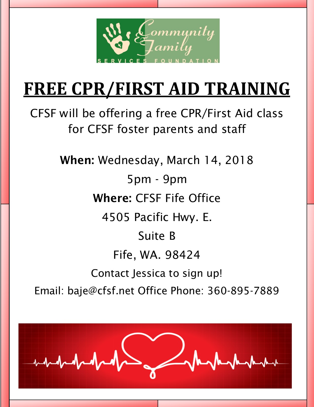 Free Cpr First Aid Training Fife