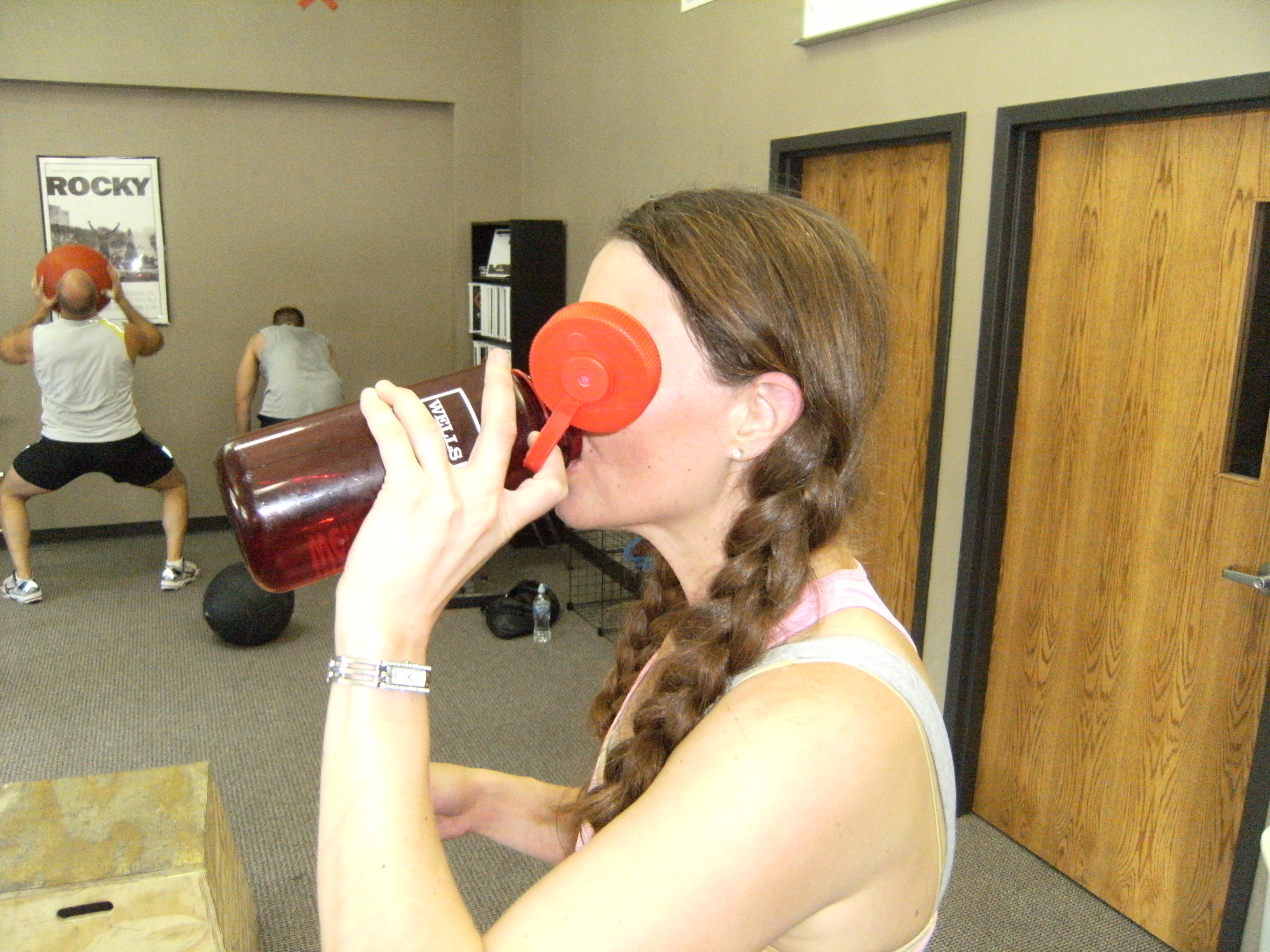 Hydrating is key in these hot summer days. Way to go Michelle!