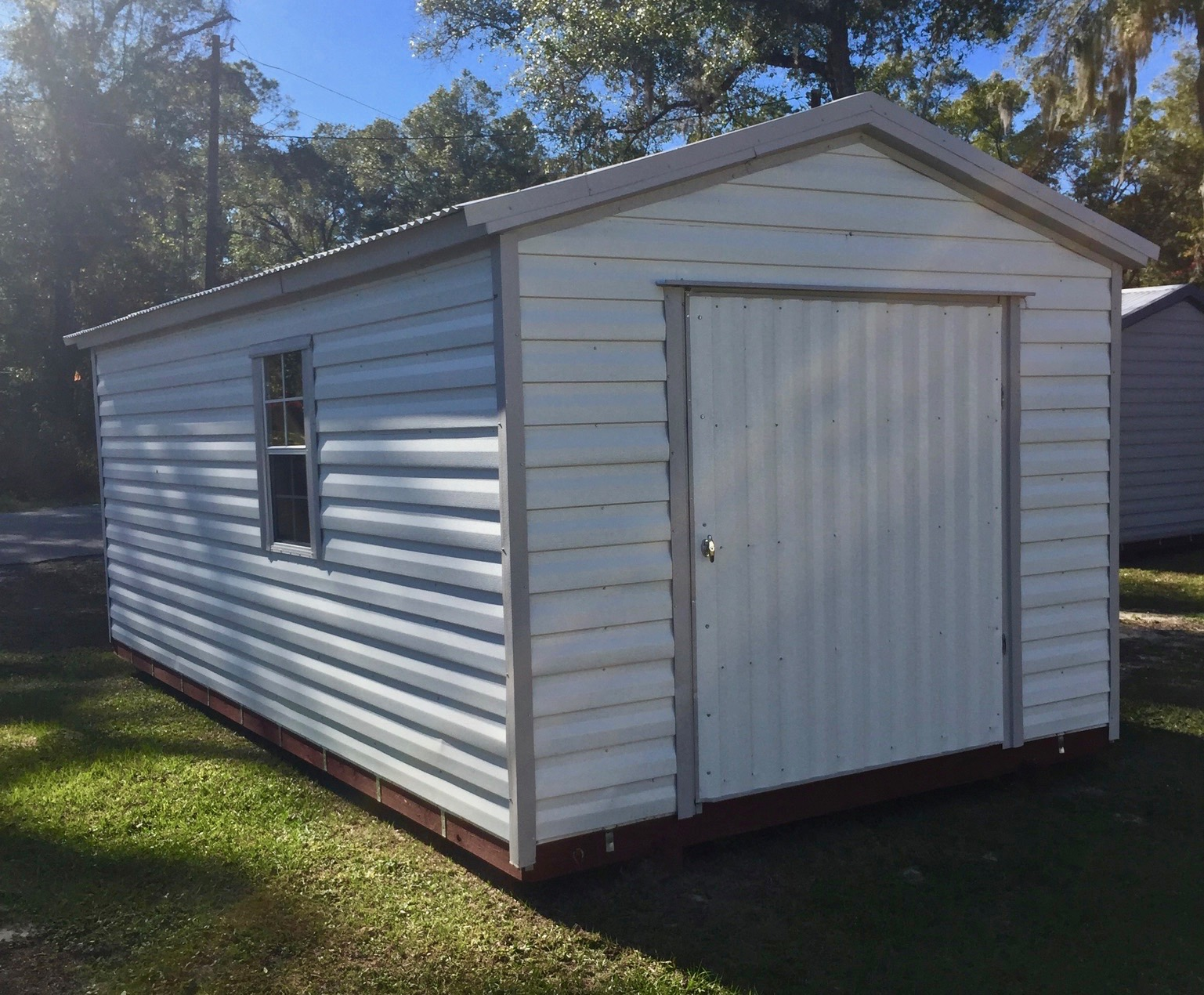 10x16 Shed Central Florida Steel Buildings And Supply