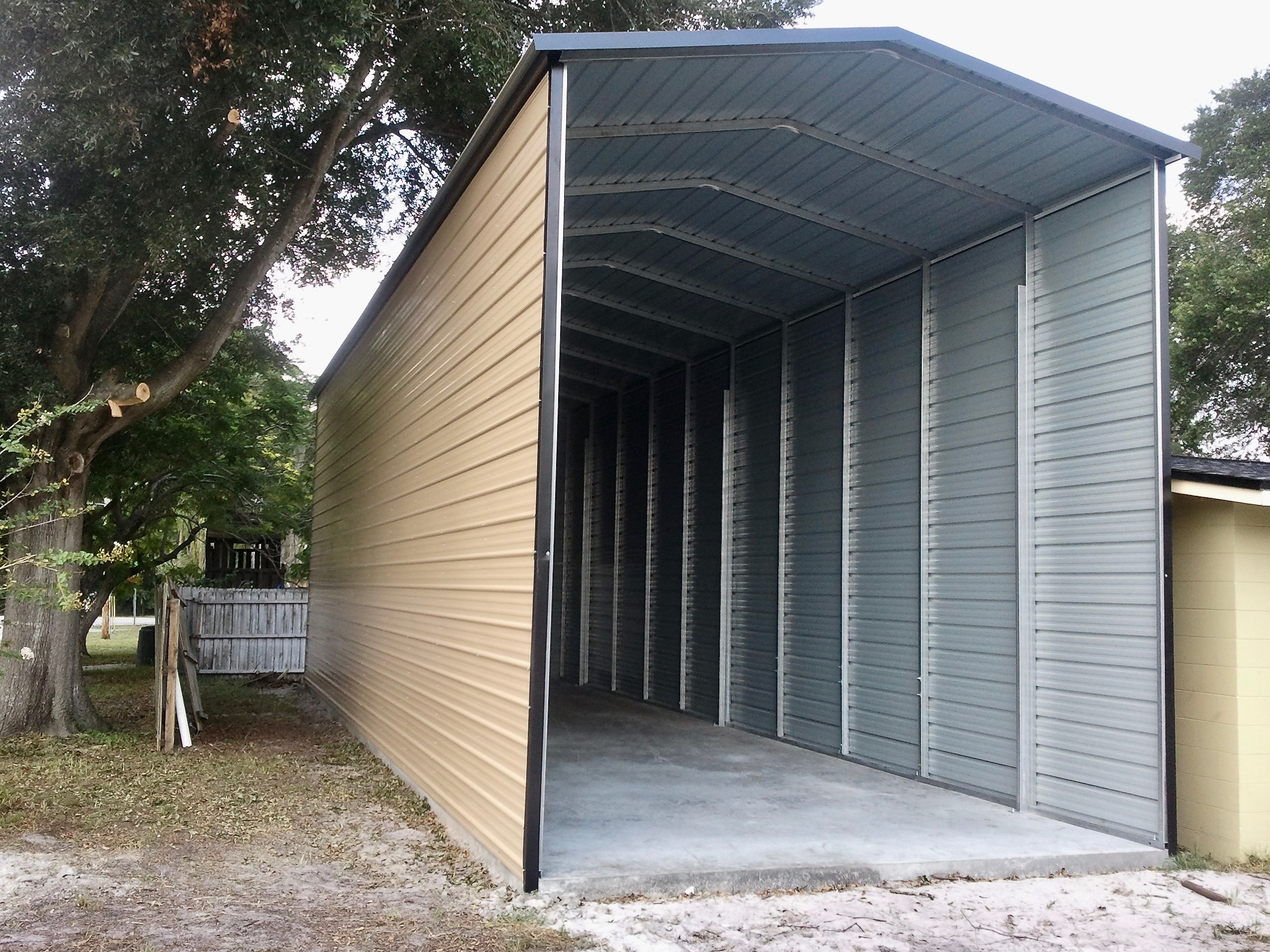 20x50 RV Cover Central Florida Steel Buildings And Supply