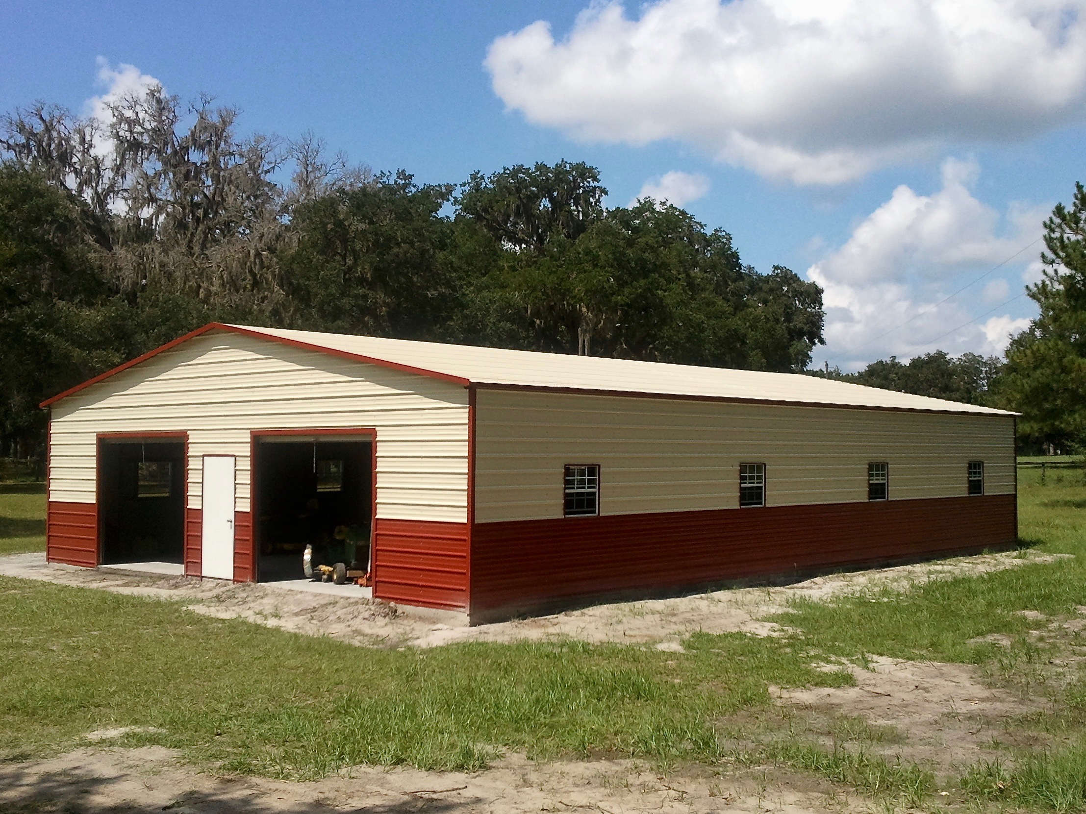 36x50 Steel Building Central Florida Steel Buildings And