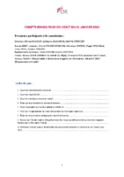 COMPTE RENDU CSSCT JANVIER 21