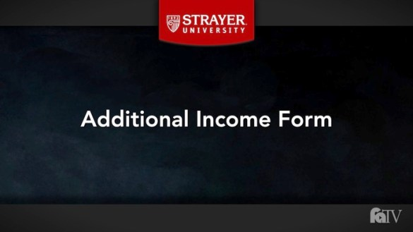 2018 19 Additional Income Form   2018 19 Verification Forms     Video thumbnail for fatv strayer 002 1819 rev mp4