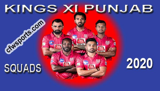 Kings XI Punjab squads