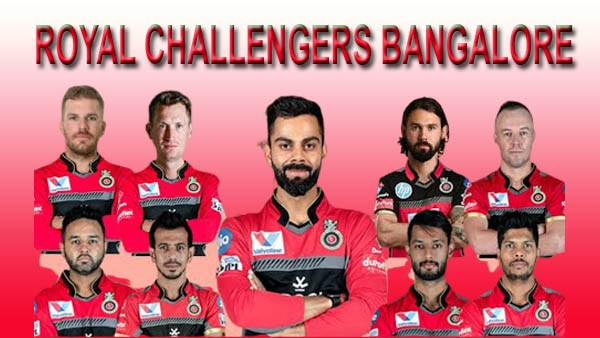 Royal Challengers Bangalore Squads