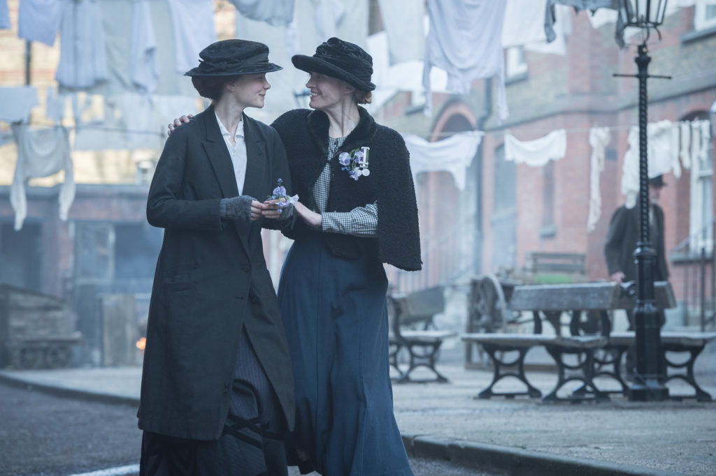 Carey Mulligan (Maud) and Anne-Marie Duff (Violet) in SUFFRAGETTE