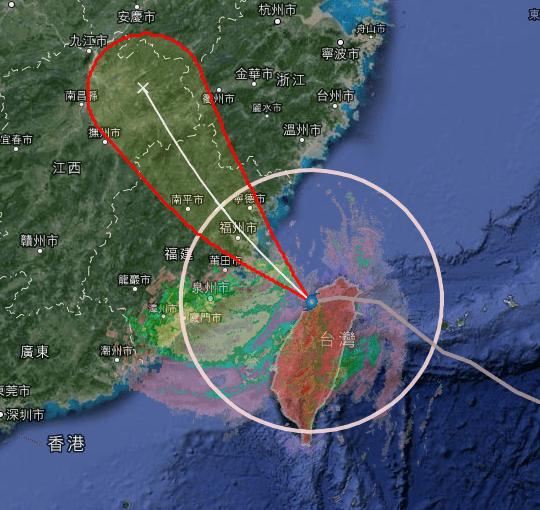 蘇力颱風衛星雲圖   逍遙文工作室