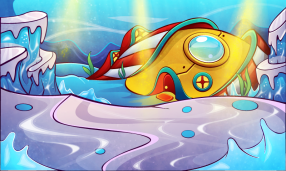 Underwater Santa Base