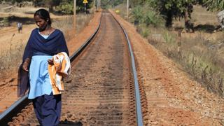 Lone ranger: This brave woman in Bastar guards tracks in the red zone