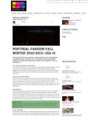 Portugal Fashion Fall Winter 2012/2013 | Dia #3 | Rua de Baixo