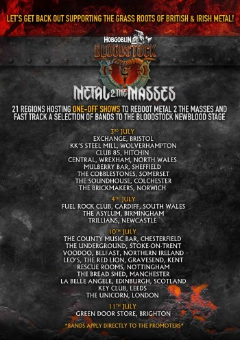 M2TM Venues And Dates In July