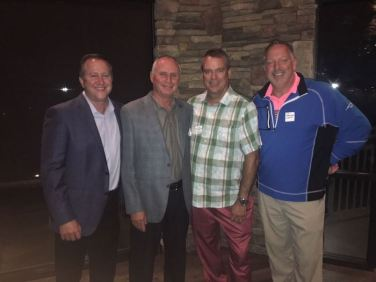 John McNair (JC Resorts), Steve Plummer (Championship Golf Services), Michael Lautenbach (City of Anaheim) and Jim Hoppenrath (Club Car) at our Tri-States Reception on September 17, 2018 in Carlsbad.