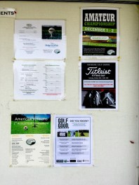 Riverside Golf Course (Fresno) with their Golf is Good bulletin display