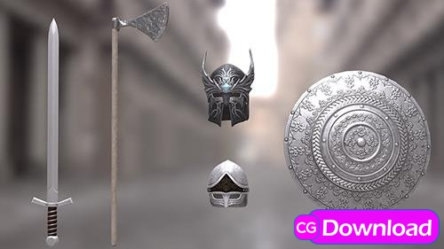 Download Cubebrush – Weapons and armor pack Free